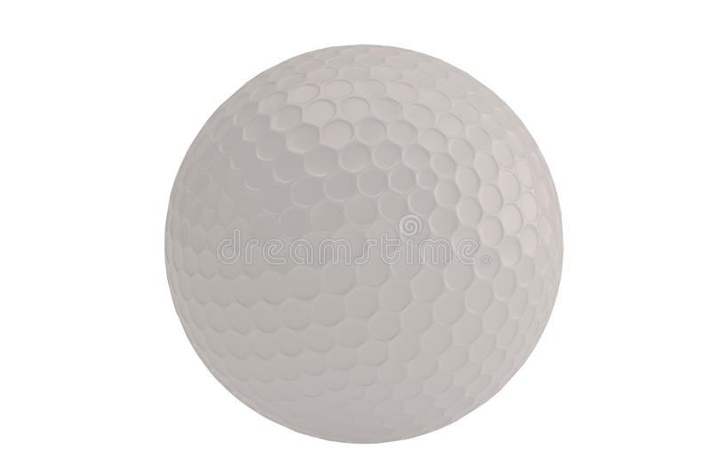 A golf ball isolatedon white background. 3D illustration. royalty free illustration