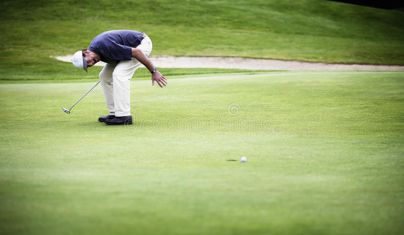 Download Golf Ball Just Missed Hole. Stock Photo - Image: 16131154