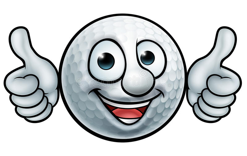 Golf Ball Mascot royalty free illustration