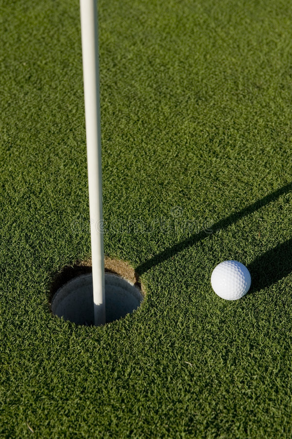 Download Golf Ball Near Hole stock image. Image of green, objective - 6721049