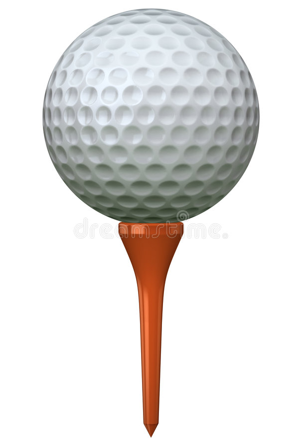 Free Golf Ball On Tee Royalty Free Stock Photography - 1766087
