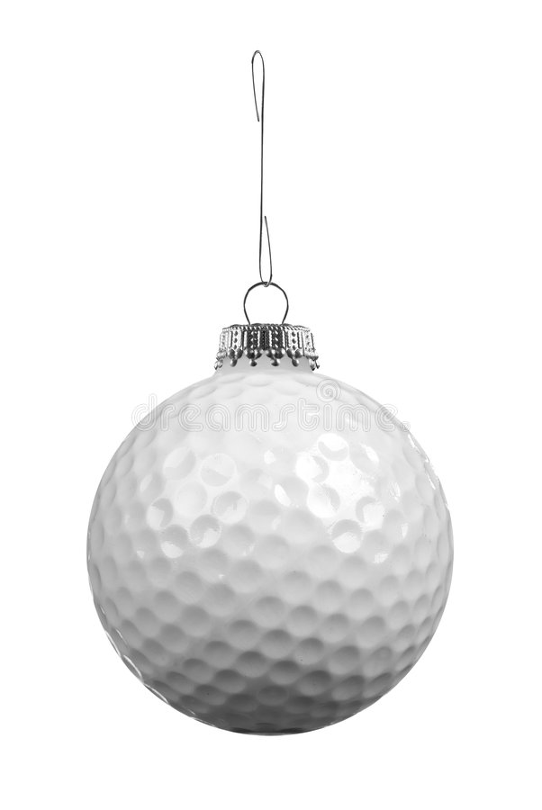Golf ball ornament stock images