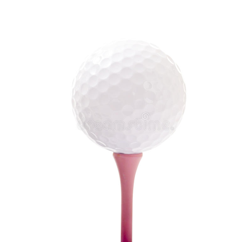 Download Golf Ball on Pink Tee stock photo. Image of life, sport - 31542108
