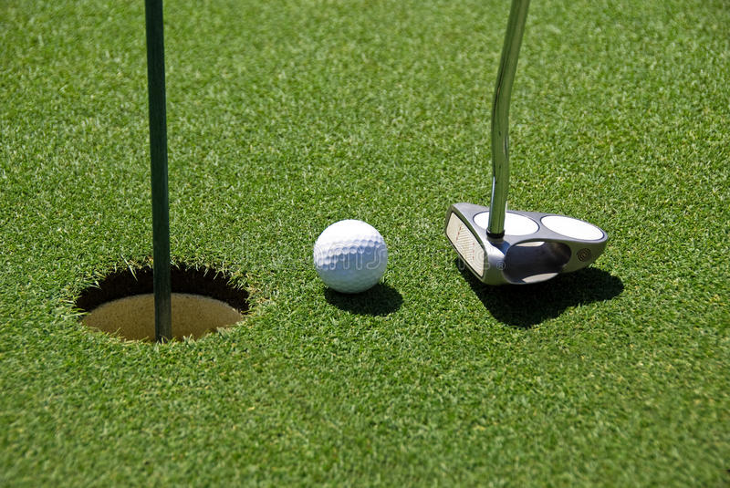 Download Golf ball on practice hole stock image. Image of golf - 22422569