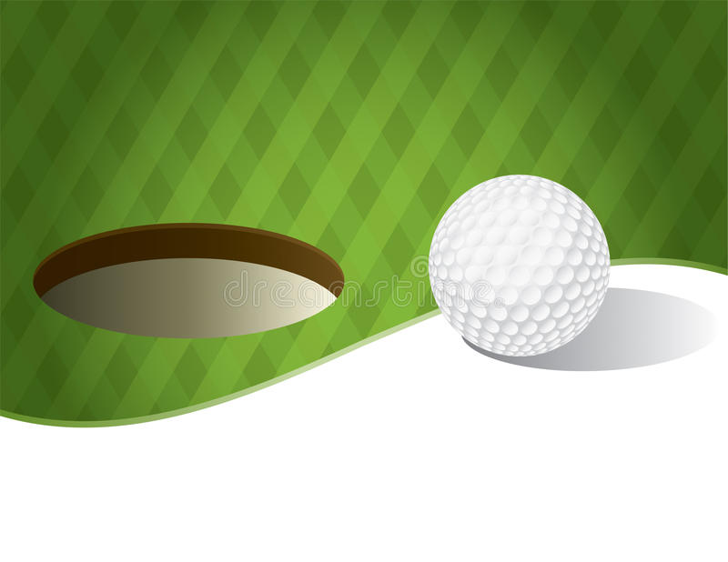 Golf Ball on a Putting Green Background vector illustration