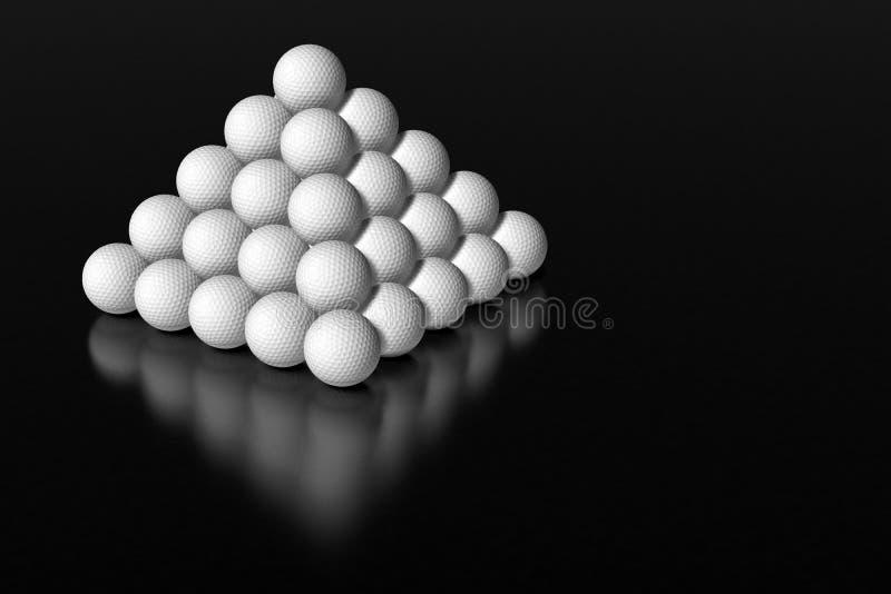 Download Golf ball pyramid stock illustration. Image of ball, play - 12815251