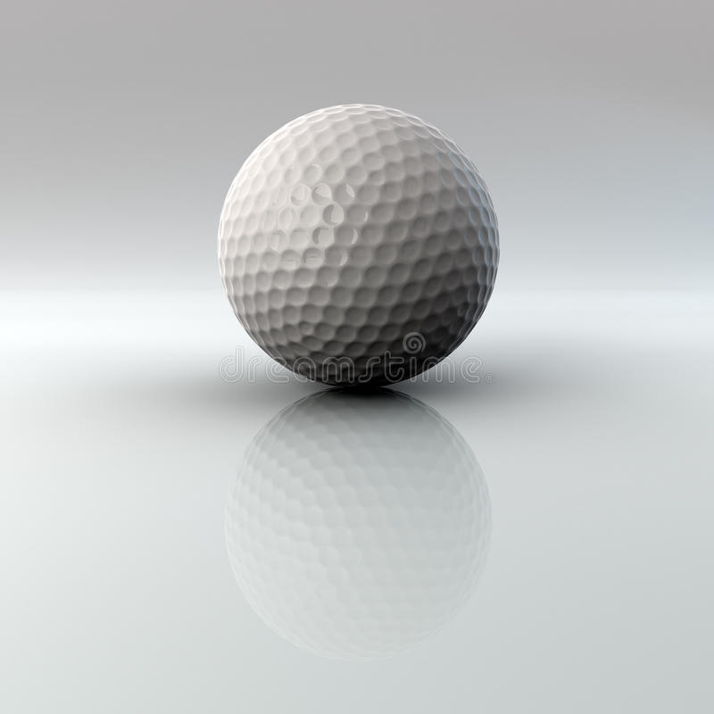 Download Golf Ball With Reflection And Alpha Stock Illustration - Image: 12435502