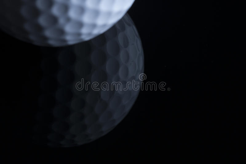 Download Golf Ball With Reflection Isolated On Black Background. Stock Photo - Image of ball, blank: 52844596