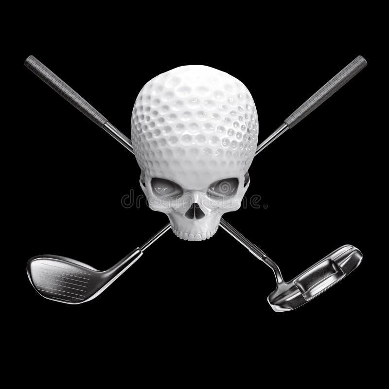 Golf ball skull vector illustration