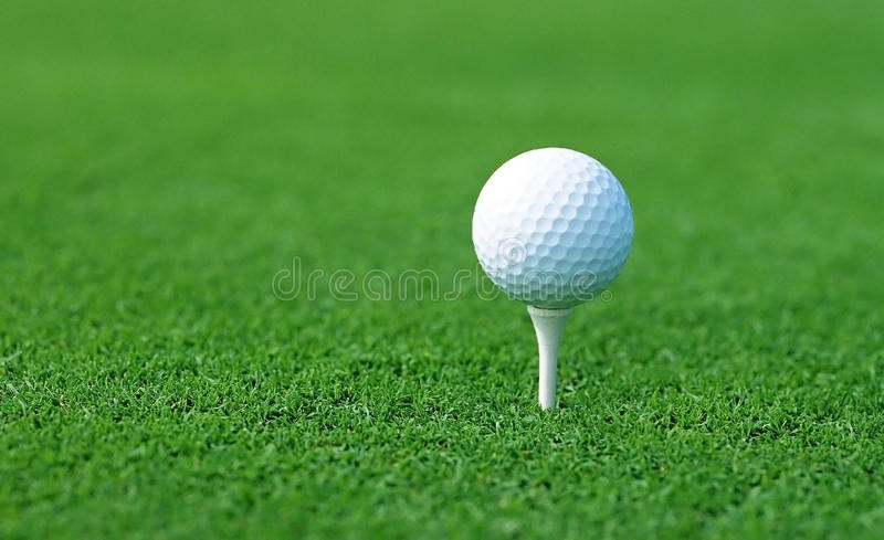 Download Golf Ball On Start Position Stock Photo - Image of background, indoor: 27139218