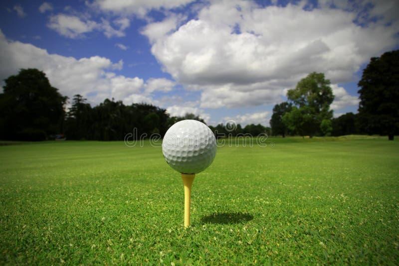 Golf ball on the tee royalty free stock photos