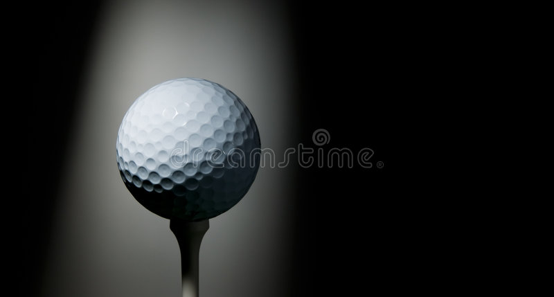 Download Golf ball on tee stock photo. Image of shade, master, copy - 6750776