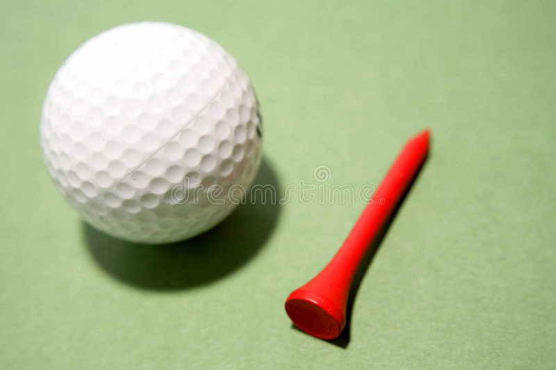 Download Golf ball and tee stock photo. Image of dimples, summer - 7080252