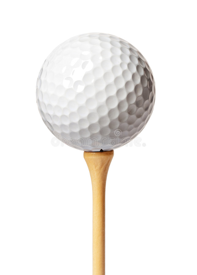 Download Golf ball on a tee stock image. Image of isolated, golfing - 8198451