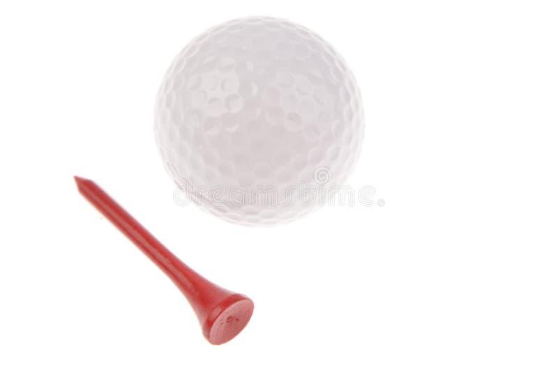 Golf Ball And Tee Royalty Free Stock Image