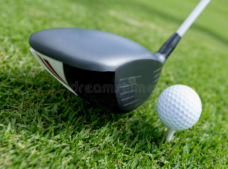 Download Golf ball at the tee stock photo. Image of play, course - 33914886