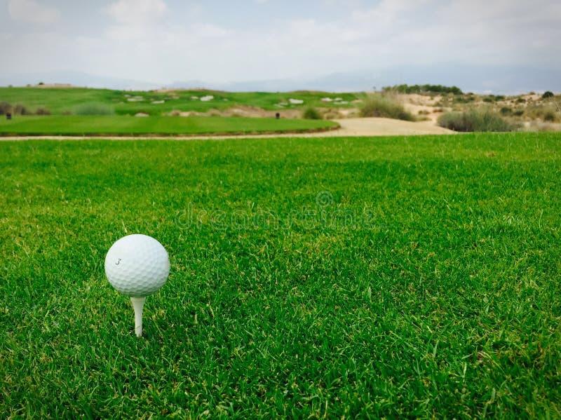 Golf Ball on Tee royalty free stock photography