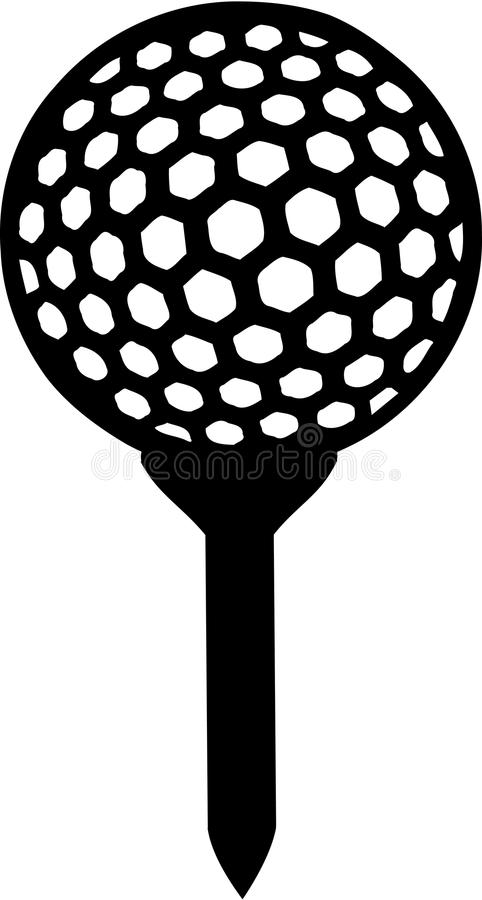 Golf Ball on Tee. Sports vector stock illustration