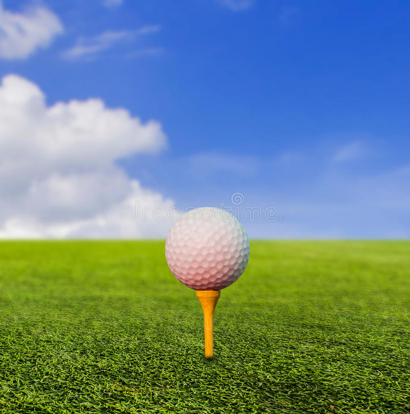 Golf ball on tee royalty free stock images