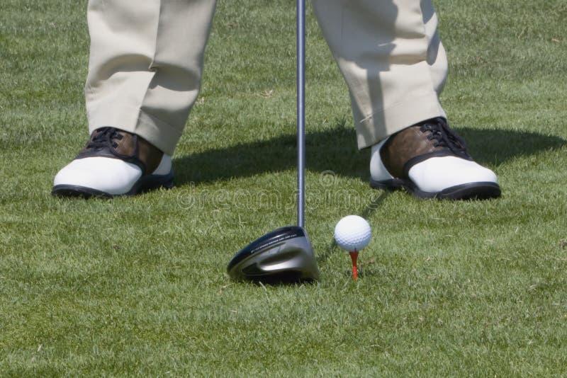 Golf Ball Teed Up stock photos