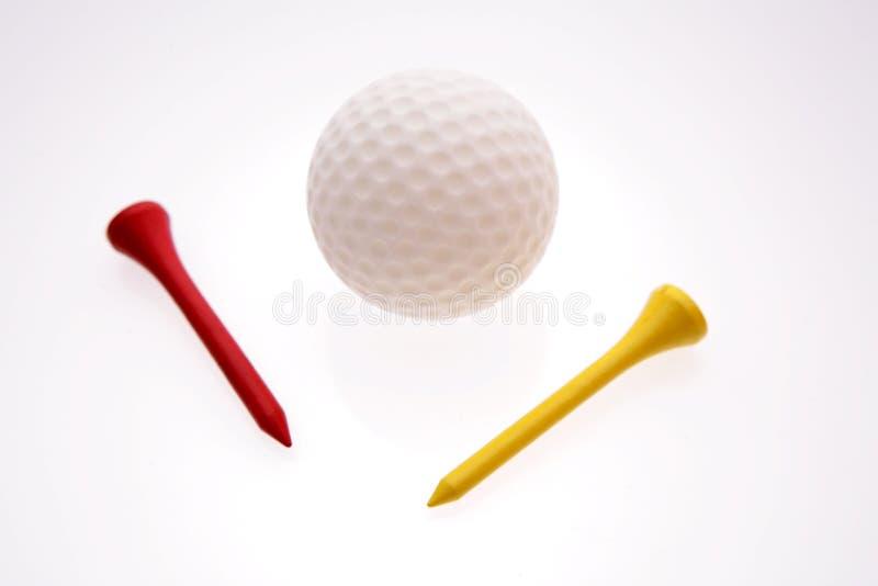 Golf ball & tees stock image