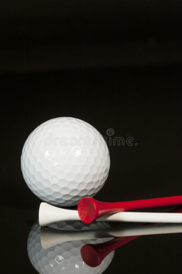 Golf Ball and Tees 2 stock photo