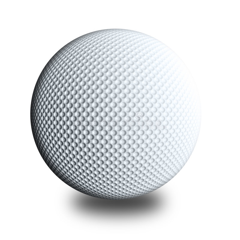 Download Golf ball white stock illustration. Image of blank, relax - 1707319