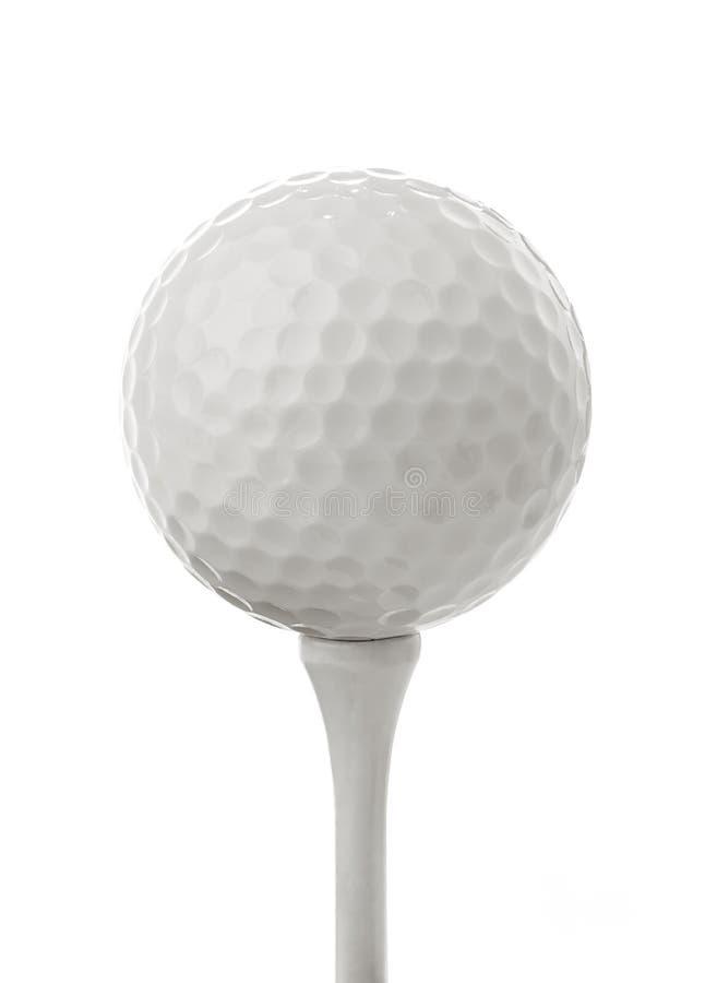 Golf ball on white royalty free stock photos
