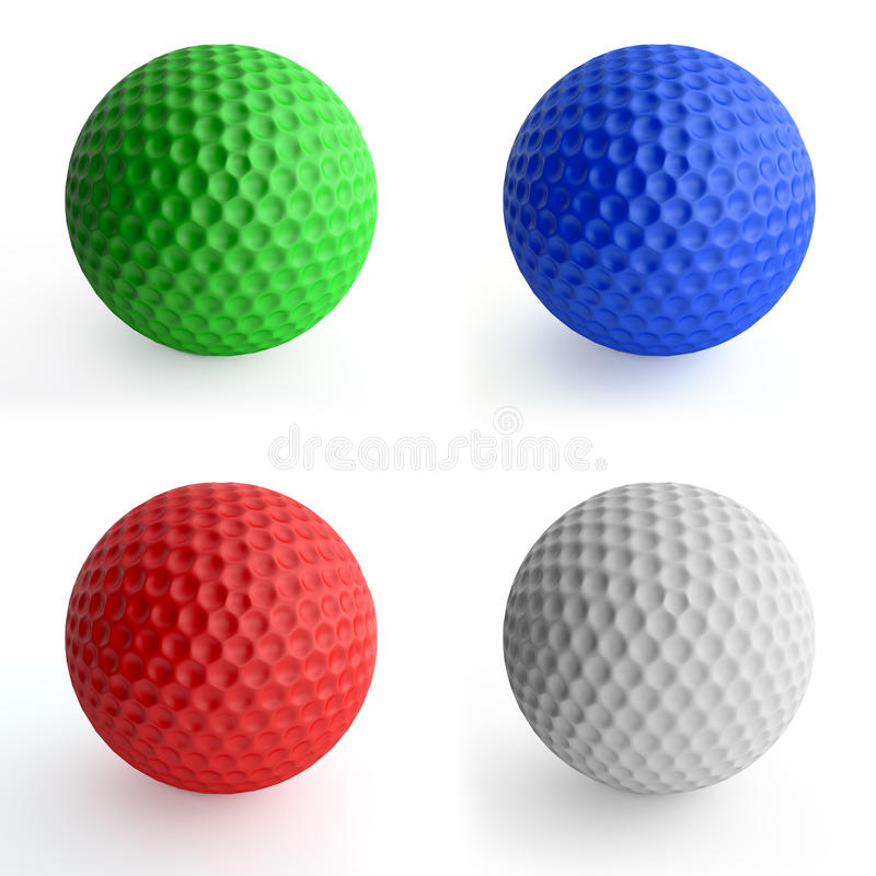 Download Golf balls stock photo. Image of ball, green, four, colour - 19213796