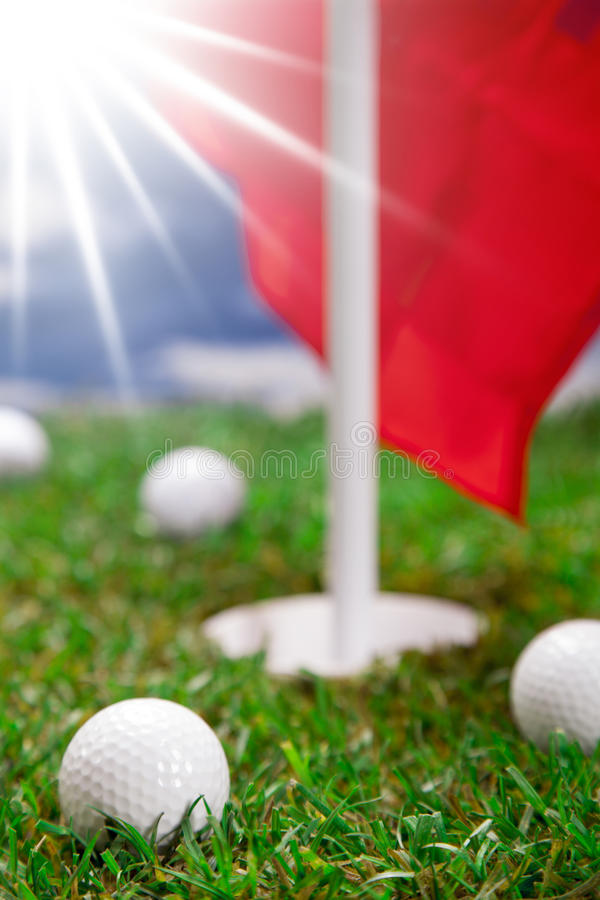 Download Golf balls! stock photo. Image of club, field, close - 27601018