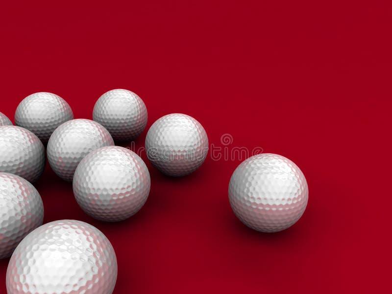 Golf balls vector illustration