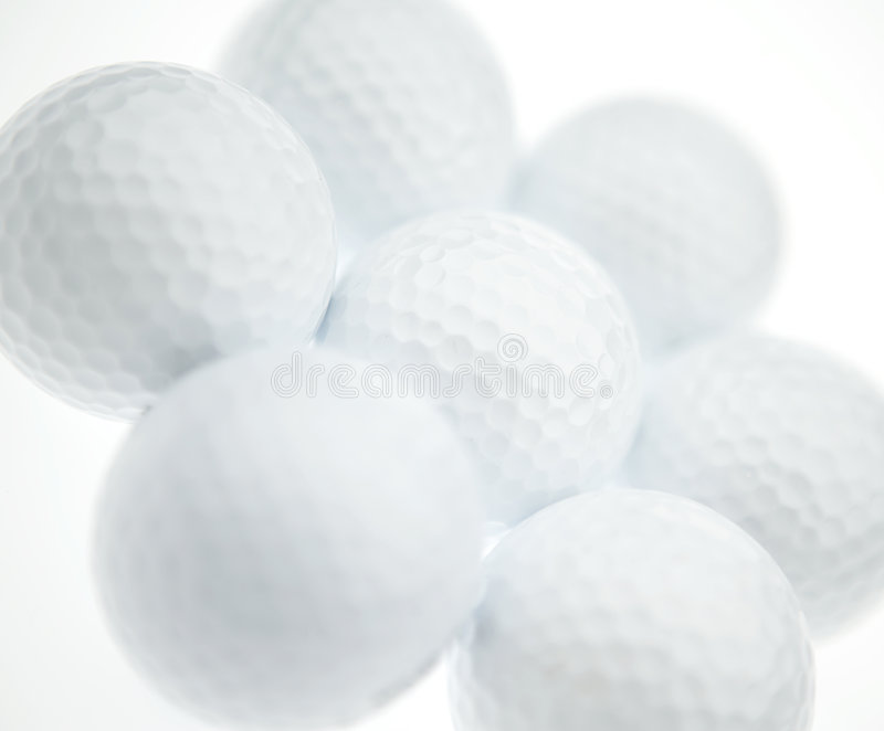 Golf balls royalty free stock photography