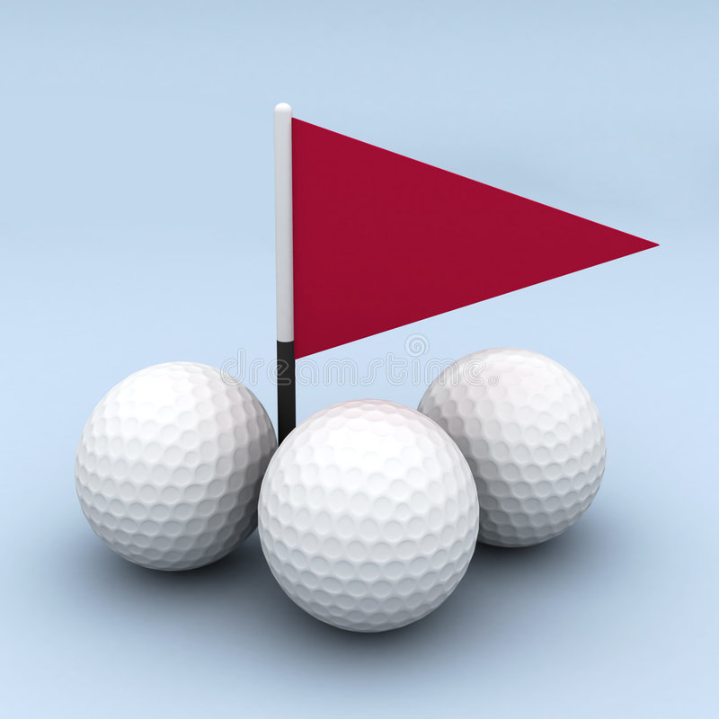 Free Golf Balls And Flag Stock Images - 2119884