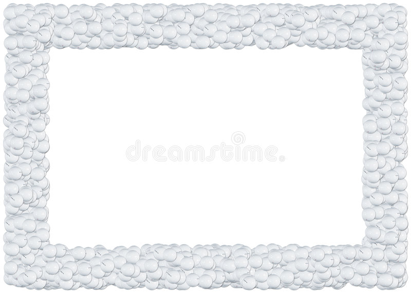 Golf balls frame royalty free illustration