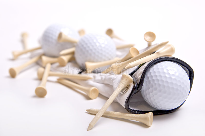 Download Golf Balls On Golf Glove With Tees Stock Image - Image: 3911345