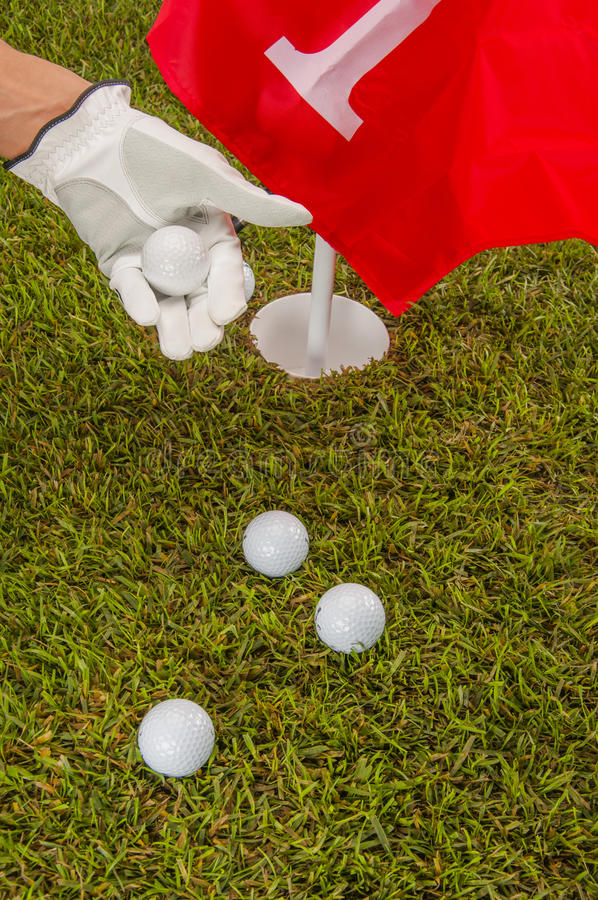 Download Golf Balls, Green Grass, Clouds Background Stock Photo - Image: 34900900