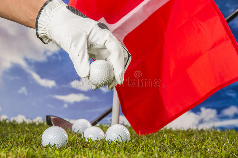 Download Golf Balls, Green Grass, Clouds Background Stock Image - Image: 34900911