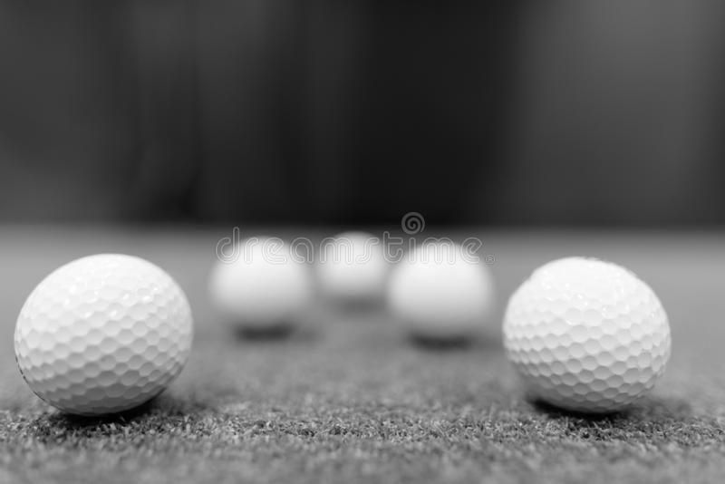 Golf Balls On Ground Shot In Black And White Stock Photo Image Of Leisure Ball 160255434