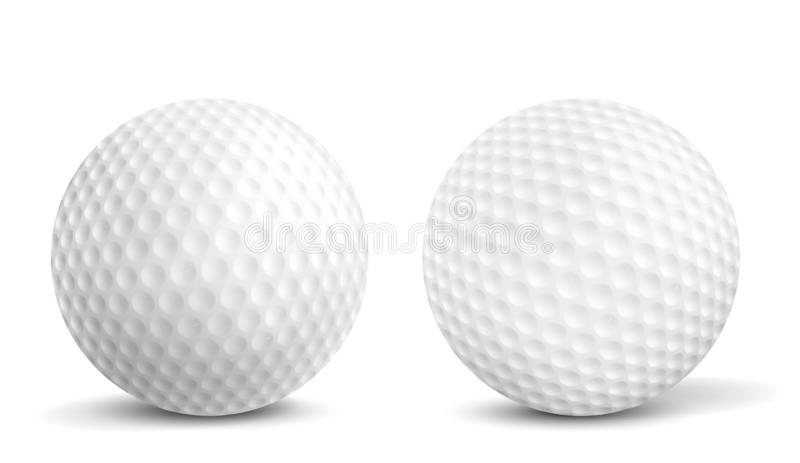 Golf balls isolated realistic vector illustrations vector illustration