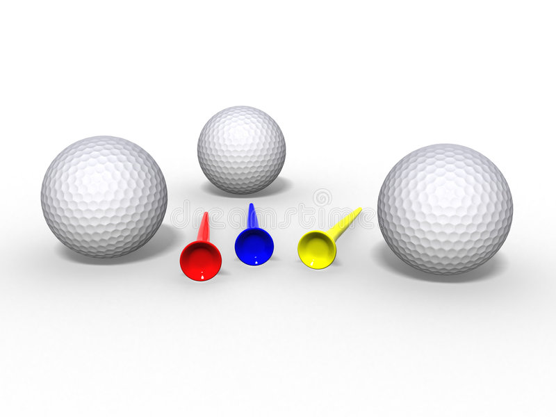 Download Golf balls and tees stock illustration. Image of below - 2543168