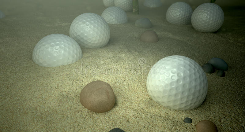 Download Golf Balls In Water Hazard stock illustration. Image of immersed - 26351707