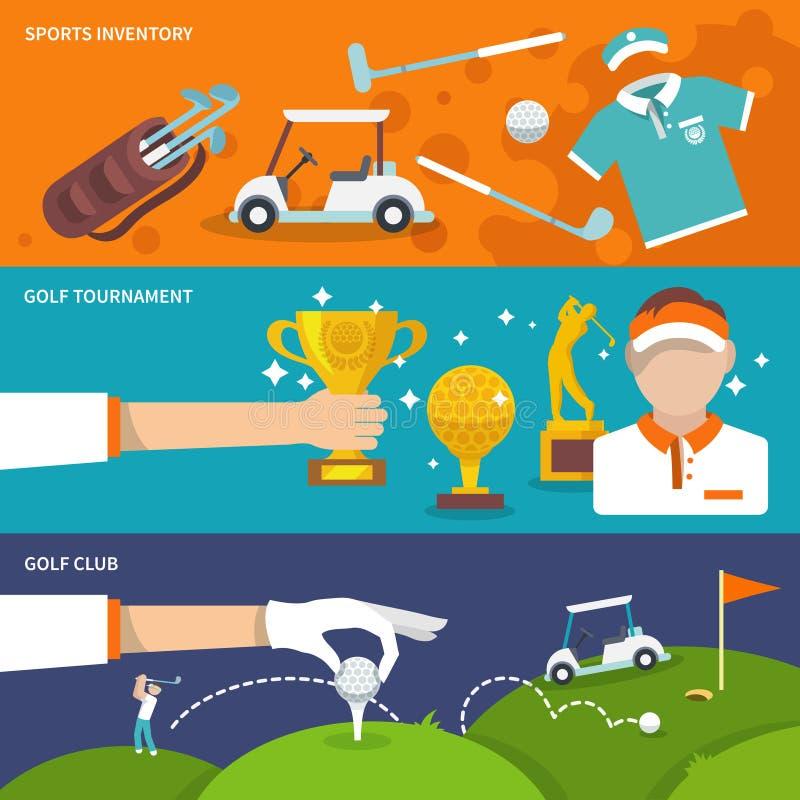 Golf banner set stock illustration