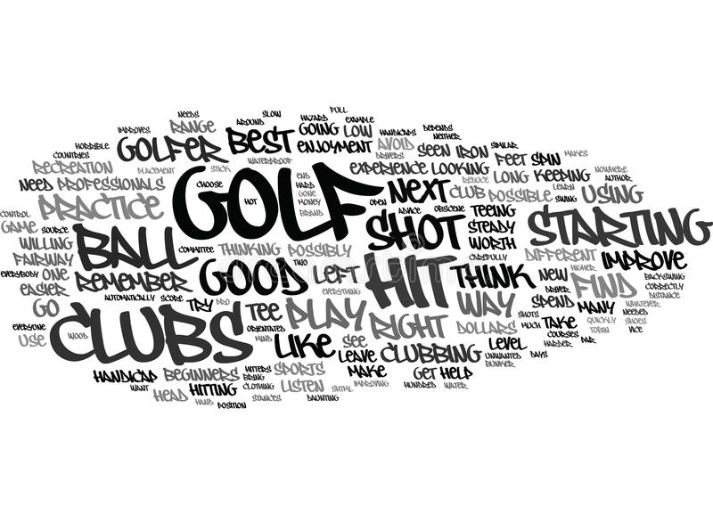 Golf For Beginners What Makes A Good Golfer Text Background Word Cloud Concept royalty free illustration