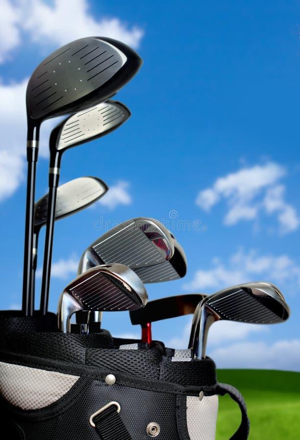Golf-Beutel lizenzfreie stockfotografie
