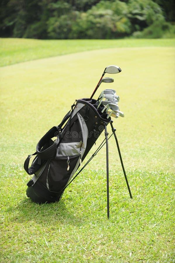 Golf-Beutel lizenzfreie stockfotos