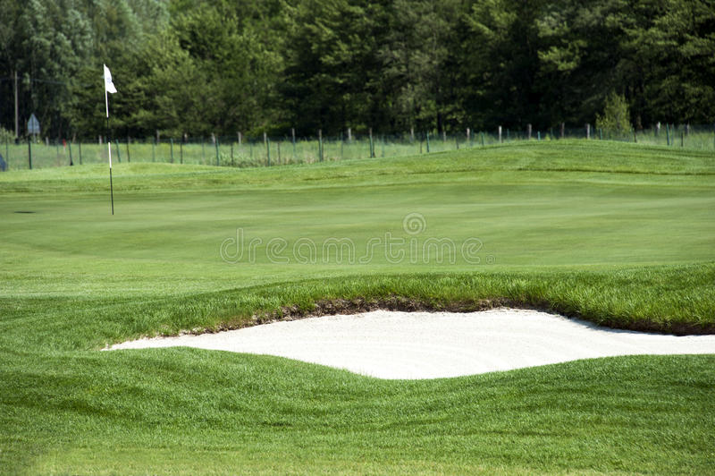 Golf Bunker Royalty Free Stock Image