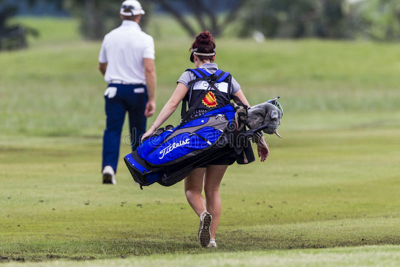 Download Golf Caddie Woman editorial stock photo. Image of tournament - 28121358