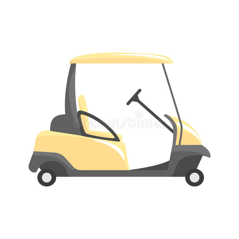 Golf car, golf sport equipment vector Illustration. Isolated on a white background royalty free illustration