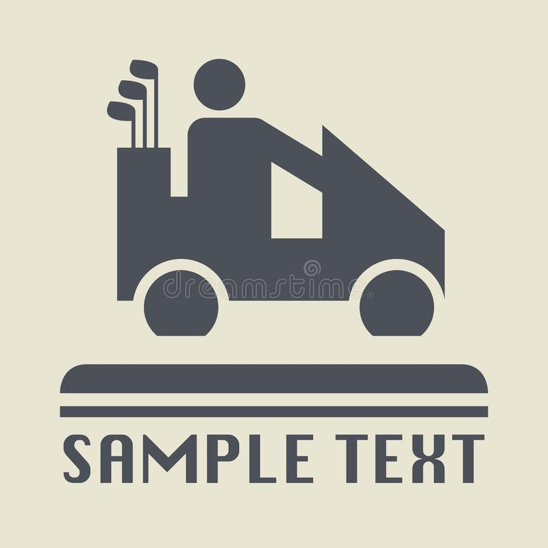 Golf car icon or sign royalty free illustration