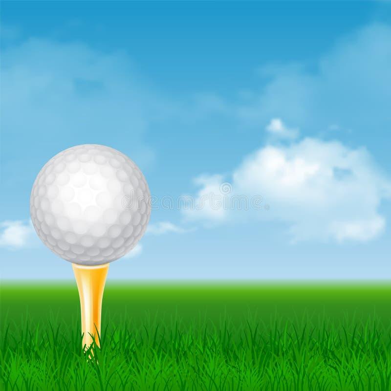Golf Card vector illustration